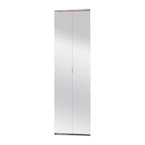 Bifold Mirrored Closet Doors Shop Reliabilt 30 In X 6 Ft 8 In Framed Mirror Bifold Door At Lowes
