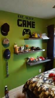 Themes In Room By Donoghue Gamers Bedroom Decor Ideas Eat Sleep Boys