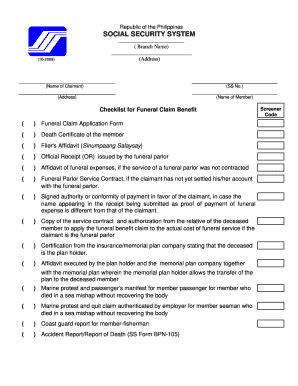 receipt of funeral parlor fill online printable