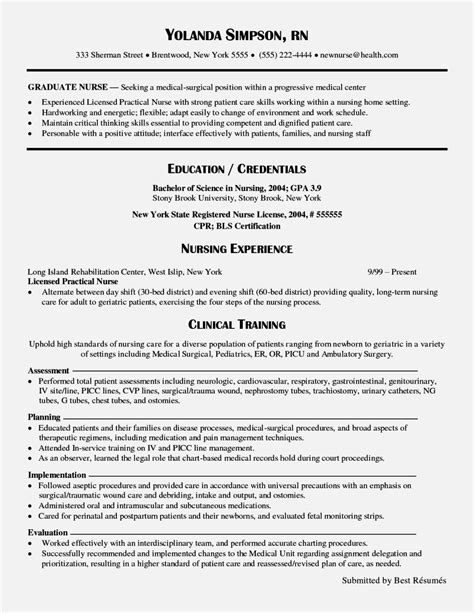 creative graduate nurse resume skills about new rn resume resume for
