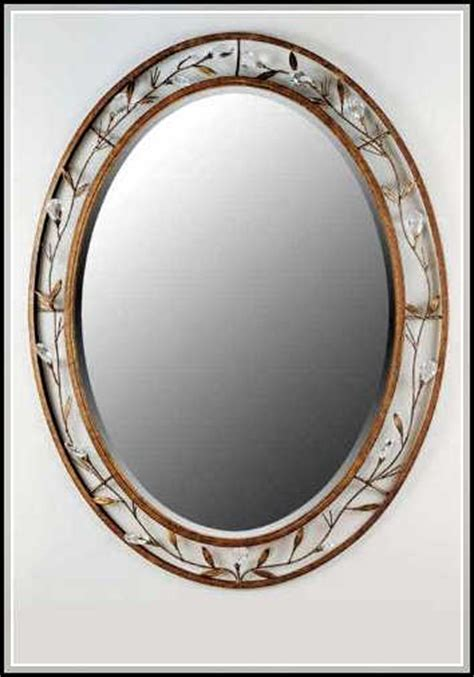 Framed Oval Mirrors For Bathrooms Beautiful Oval Bathroom Mirrors To Add Visual Interest Home Design Ideas Plans