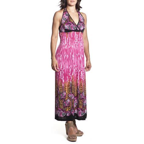 2 women s tie neck halter maxi dress length sundress