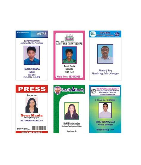 design id card online india tausif creation new standard company employee id card non