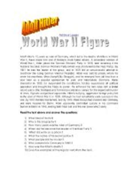 hitler biography worksheet english teaching worksheets other reading worksheets
