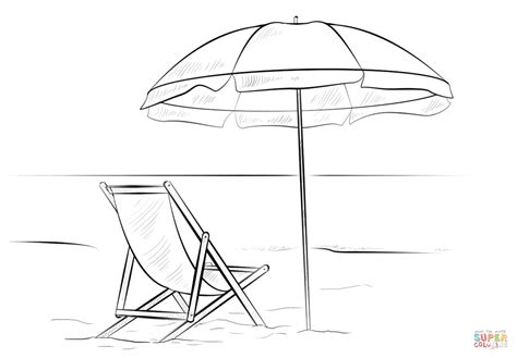 beach scene coloring book coloring pages