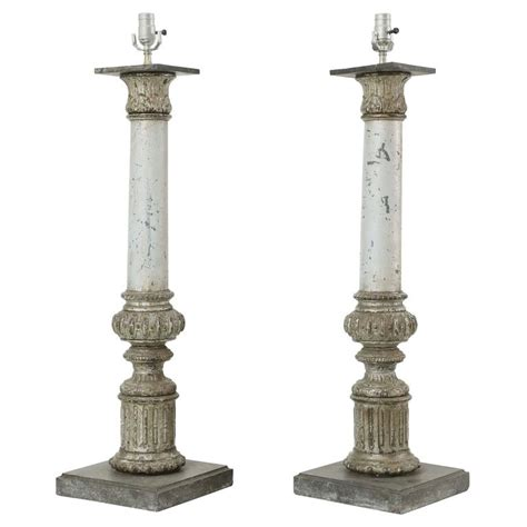 pair of 19th century column form table ls for sale at