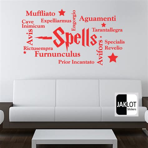 harry potter wall stickers harry potter spells collage words vinyl wall decal