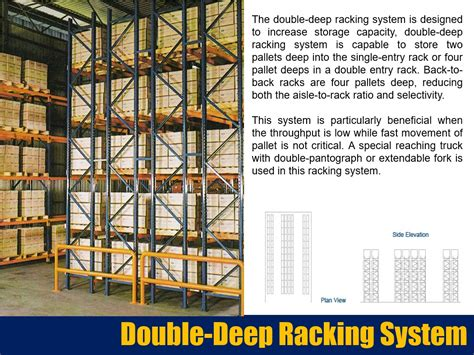 3d storage double deep racking double deep racking system