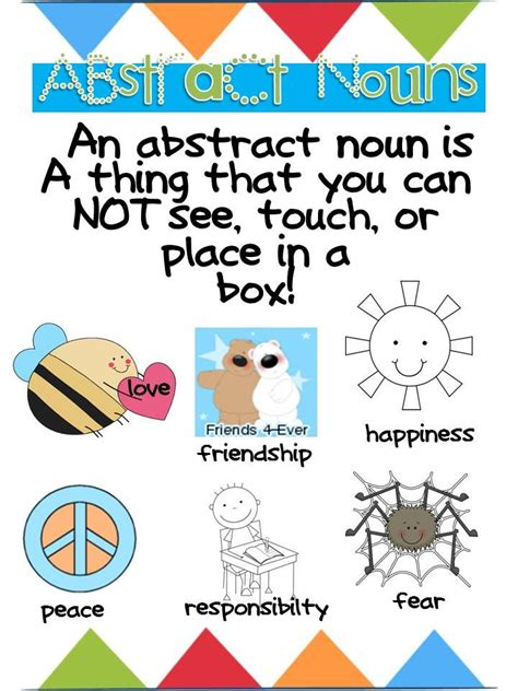 abstract nouns definition best 25 abstract nouns ideas only on grammar