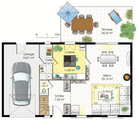 Garage Blue Prints by Maison Francilienne 1 D 233 Tail Du Plan De Maison