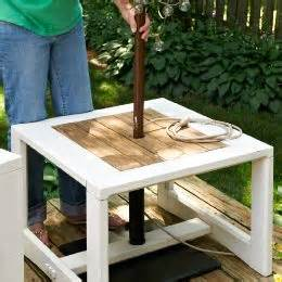 Umbrella Stand For Patio Table Make A Side Table Umbrella Stand A Freestanding Umbrella Will Make Your Deck Or Patio Much