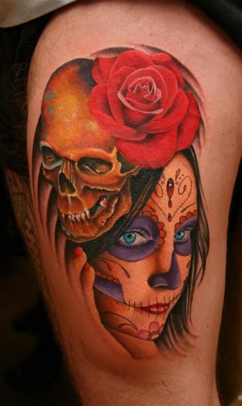 skulls that belinda peregrin wears in hair girl with day of the dead makeup wearing a skull hair