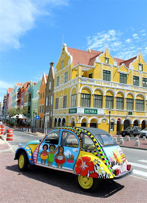 colorful cars colorful curacao punda happy painted car