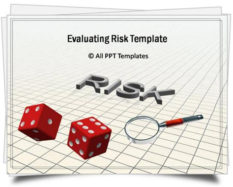 ppt templates for risk powerpoint evaluating risk template