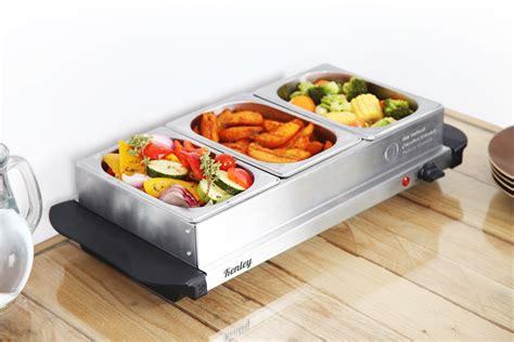 4 5l kenley 3in1 buffet server hot plate food warmer