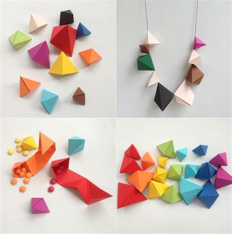 How To Make Paper Geometric Shapes - best 25 simple origami ideas on simple