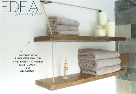 Wooden Shelves For Bathroom Diy Reclaimed Wood Bathroom Shelves Edea Smith