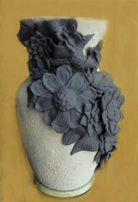 polymer clay flower vase by blubeagle on deviantart