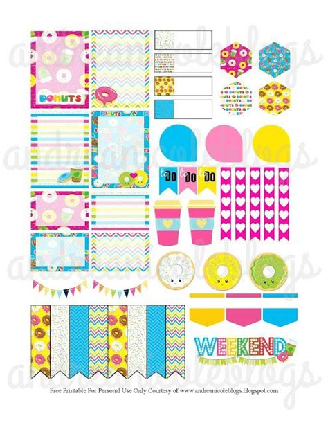 printable planner decorations free planner page decor andreanicoleblogs donutstickers