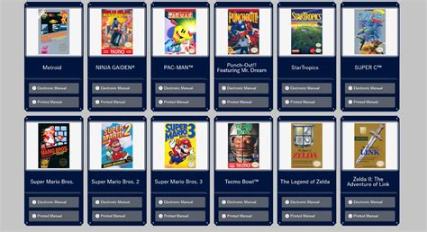 resetting gba games nes classic edition manuals now available nintendo