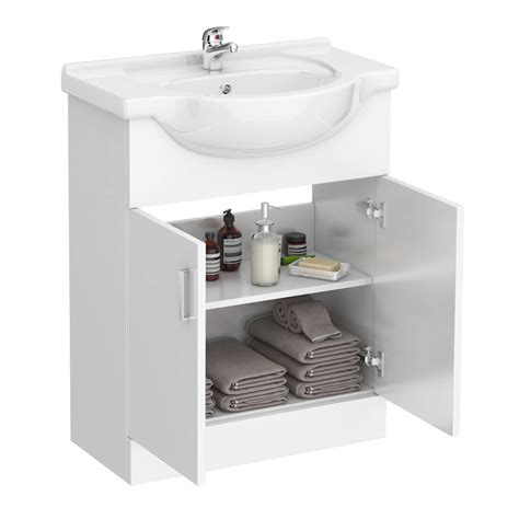 Cloakroom Suites With Vanity Unit by Cove 1150mm Vanity Unit Cloakroom Suite Gloss White