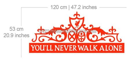 Kitchen Quotes Wall Stickers you ll never walk alone sticker moonwallstickers com