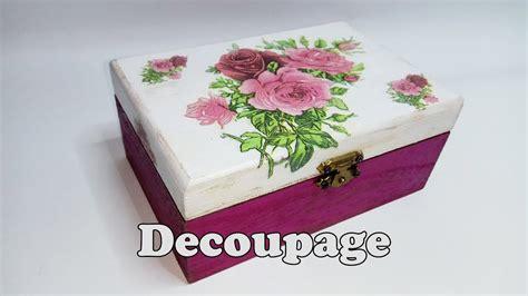 tutorial de decoupage en madera cajita de madera decorada con decoupage youtube