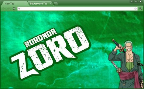 theme chrome zoro one piece chrome theme roronoa zoro by yohohotralala on