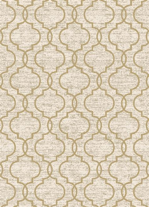 Quatrefoil Area Rug Casa 8821 Quatrefoil Ivory Yellow Area Rug By Concord Global Trading Carpetmart