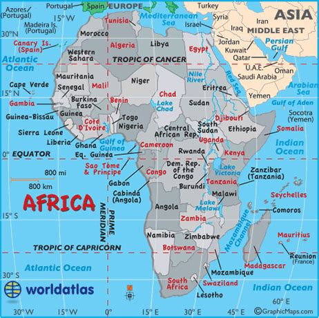 africa map oceans map of countries around the world