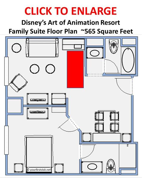 all family suite floor plan where to stay at walt disney world