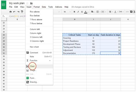 gantt chart template docs office timeline gantt charts in docs