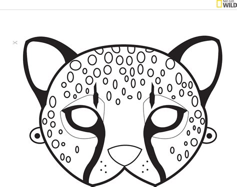 jungle animal mask templates animal mask template kratts or animal