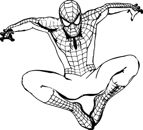 download cute spiderman coloring pages for free design