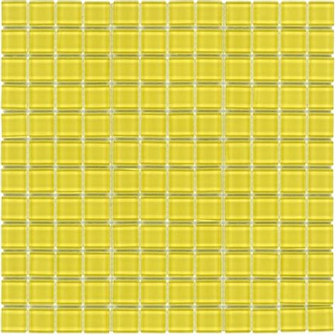glass mosaic tile backsplash yellow 1x1