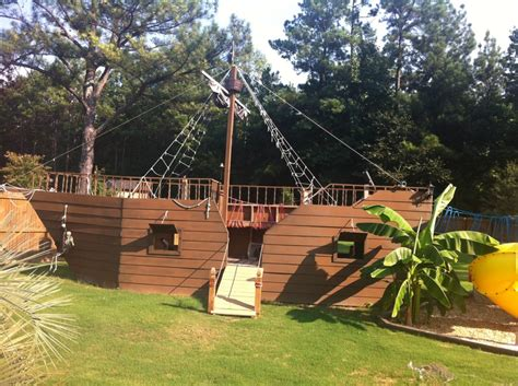 backyard pirate ship pirate ship playground tree house cubby playground ideas