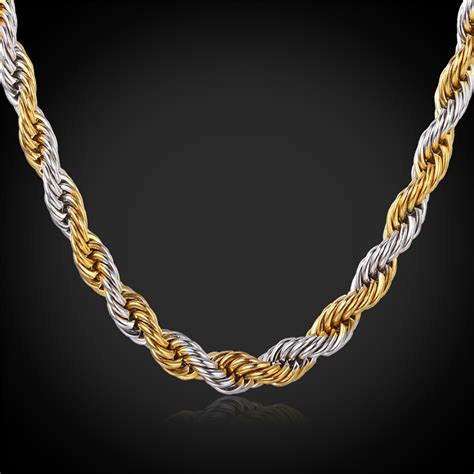 How To Buy Gold Jewelry 2 by Aliexpress Buy Gold Color Rope Chains For 2 Tone