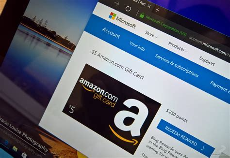 Microsoft Points Gift Cards - how to score free amazon gift cards using the microsoft rewards program pureinfotech