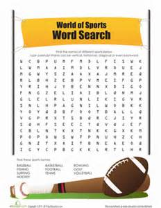 sports word search | worksheet | education.com