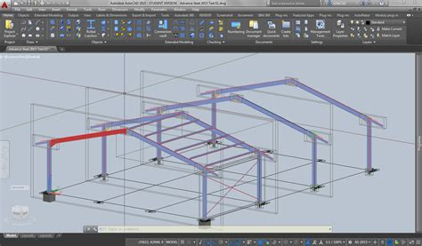 layout in autocad 2015 parametric steel design in autocad 2015 3d cad model