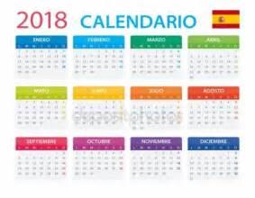 Calendario 2018 Sp Vectores De Stock De 2018 Espa 241 Ol Calendario