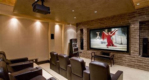 modern living room home theater