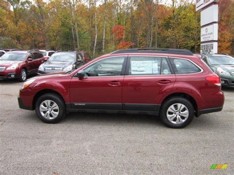 red subaru outback 2013 subaru outback red 200 interior and exterior images