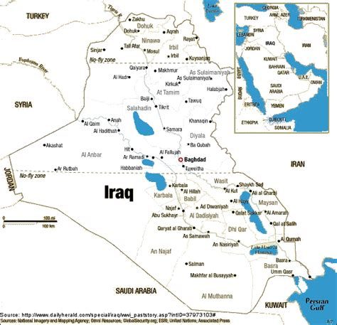 middle east map baghdad iraq