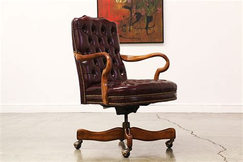 tufted leather office chair vintage vintage leather tufted desk chair vintage supply store