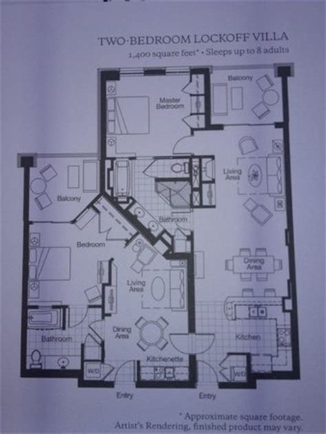 westin kierland villas floor plan floor plan of 2br unit picture of westin kierland villas