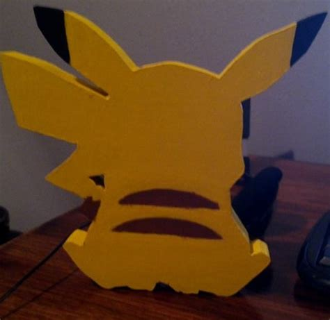 Pikachu Back pikachu wooden figure back by daghostz on deviantart