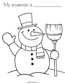 My snowman is coloring page twisty noodle