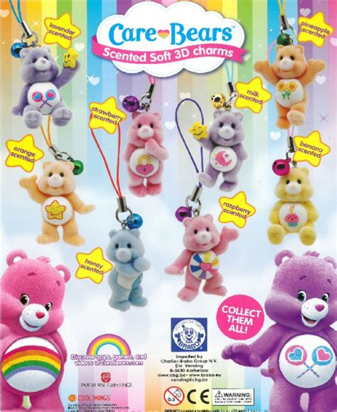 care bears scented soft 3d charms 50mm capsules
