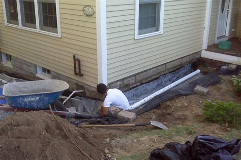 installing a french drain in backyard decor how to install a french drain design with exterior